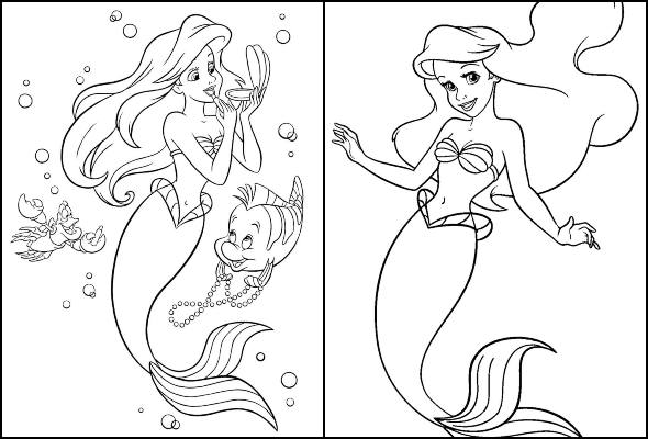 Coloriages Little Mermaid