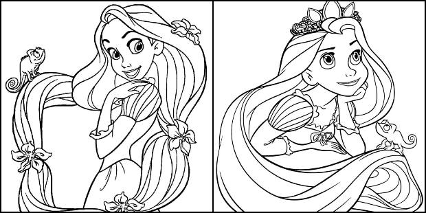 Coloriages Raiponce