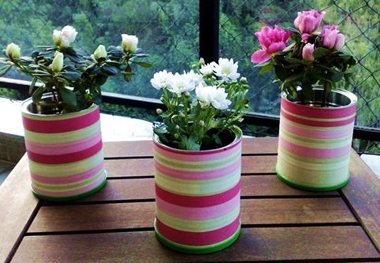 Vases avec boîte