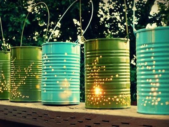Lampes à canettes