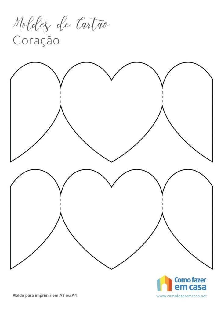 molde de cartão de coração