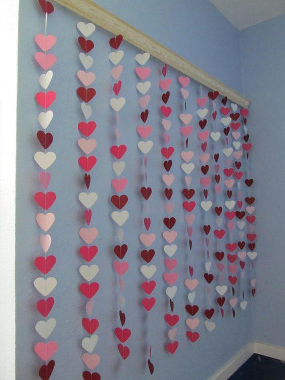 cortina de corações de papal