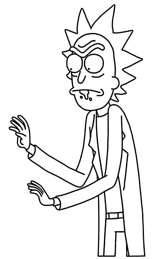 Coloriage - Rick et Morty