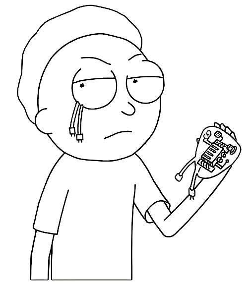 Image de Rick et Morty à peindre