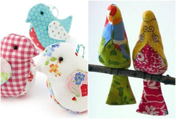 Moldes de passarinho para imprimir