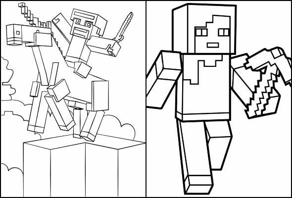 Coloriages Minecraft A Imprimer Et Colorier Maison Bonte Votre Guide Magazine Decoration Maison Deco Interieur Tendances Idees