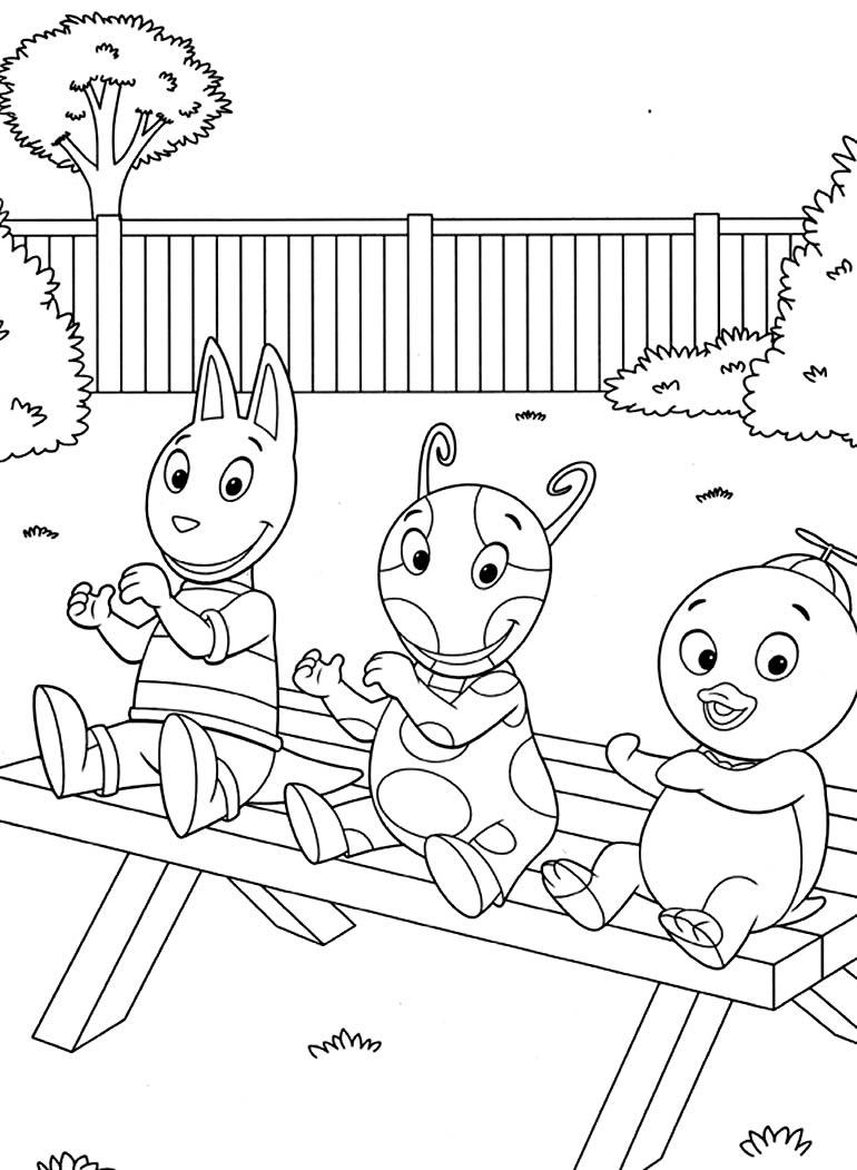 Desenho para colorir Backyardigans