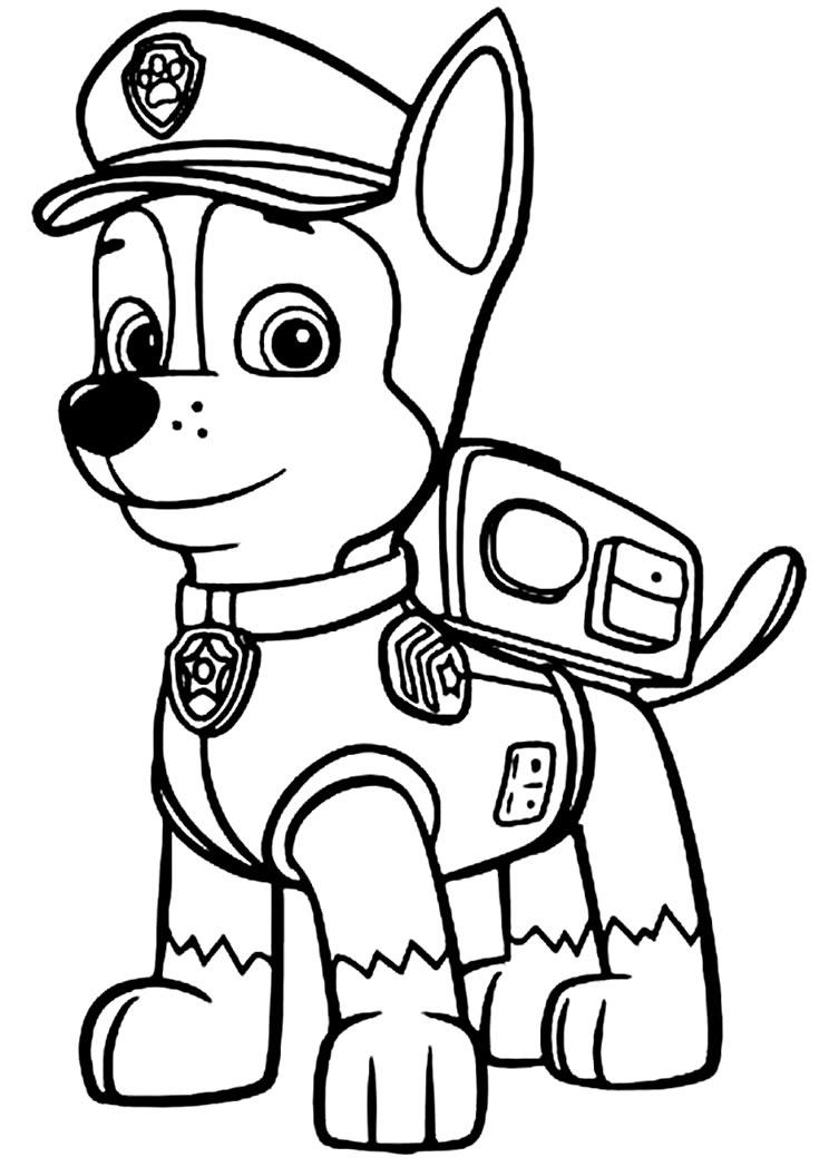 Coloriage chien patrouille