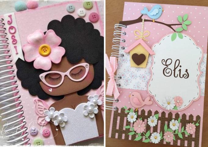 décoration de cahier avec EVA