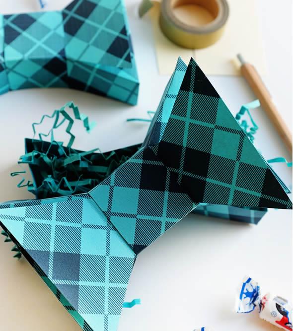 Caixinha Gravata Borboleta para o Dia dos Pais