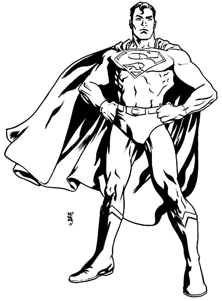 Coloriage de Superman - Maison Bonte : Votre Guide ...