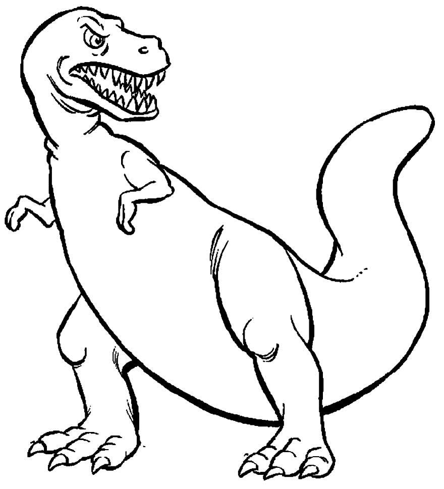 Dessin de dinosaure à peindre