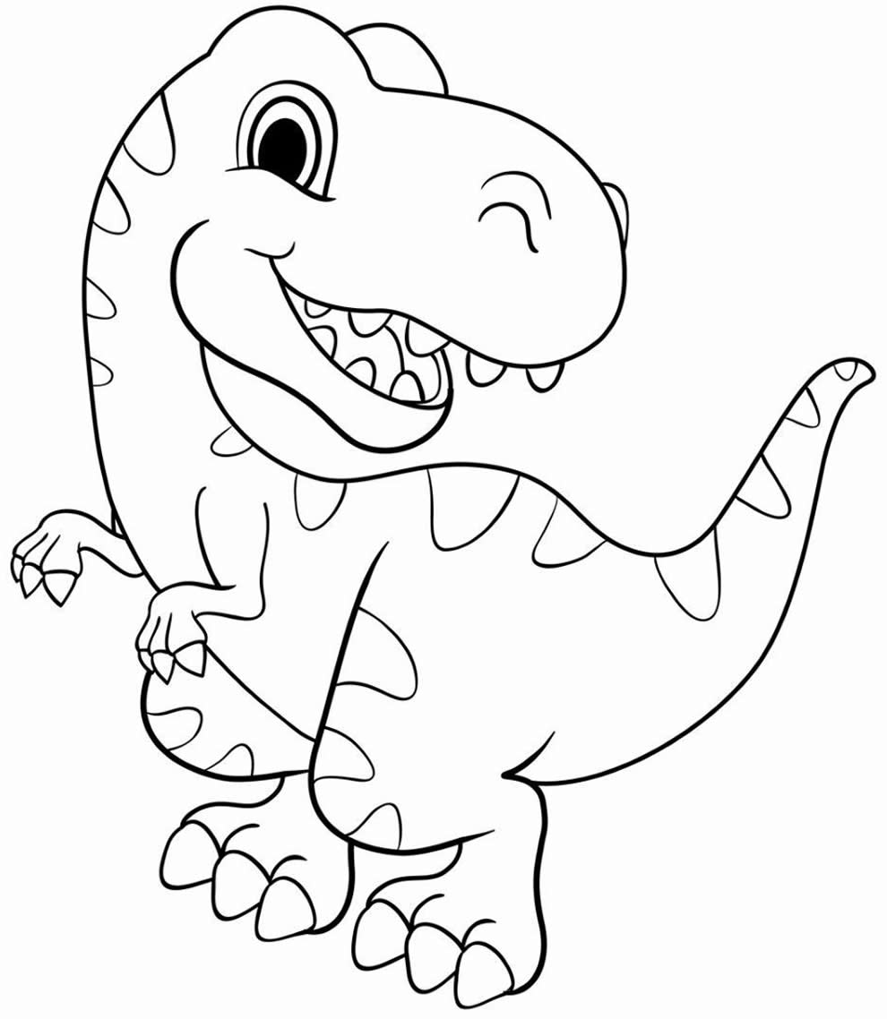 Image de dinosaure à peindre
