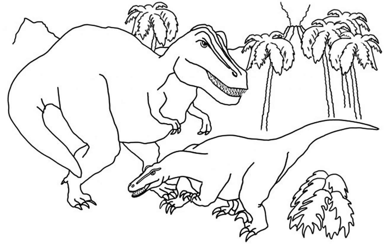 Dessin de dinosaure pour pinte