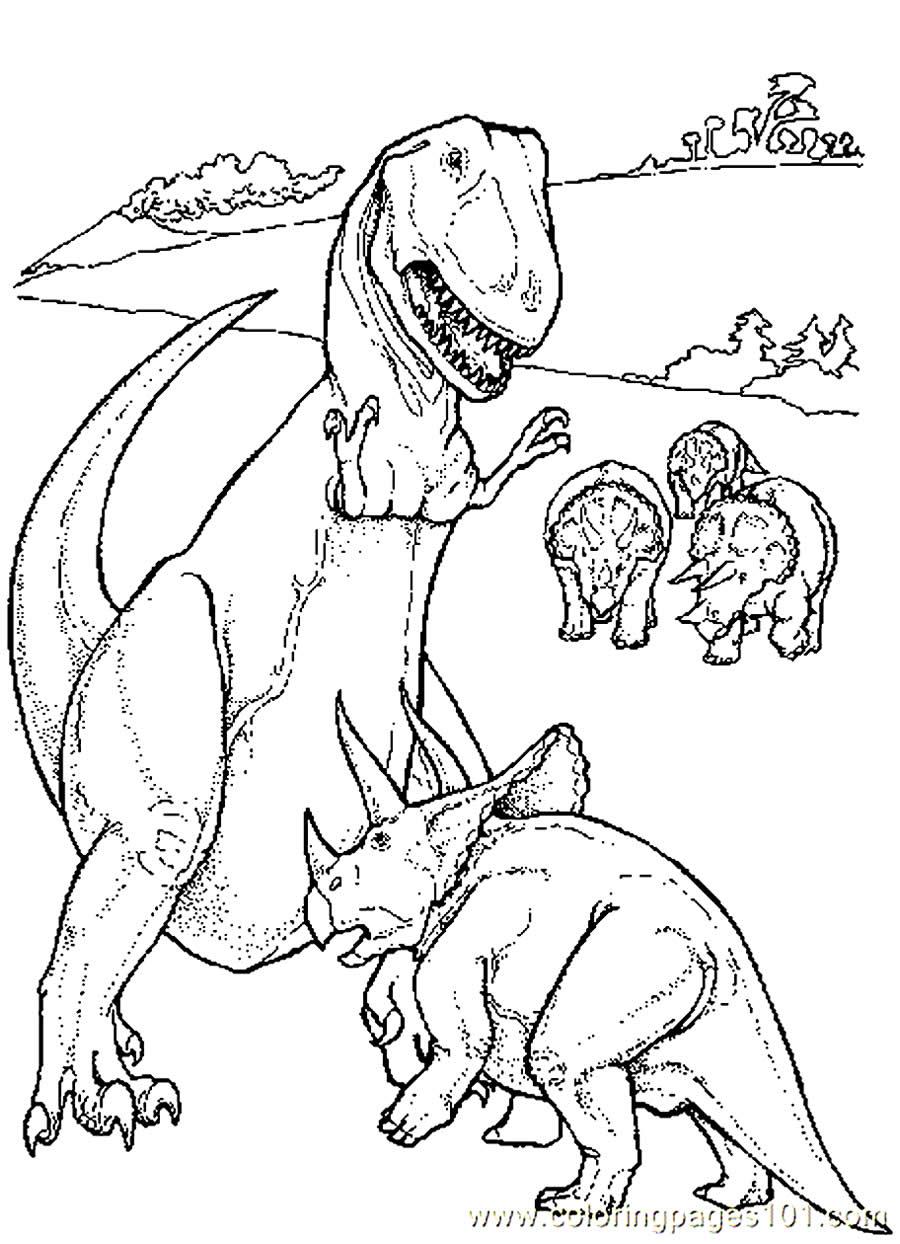Coloriage de dinosaure