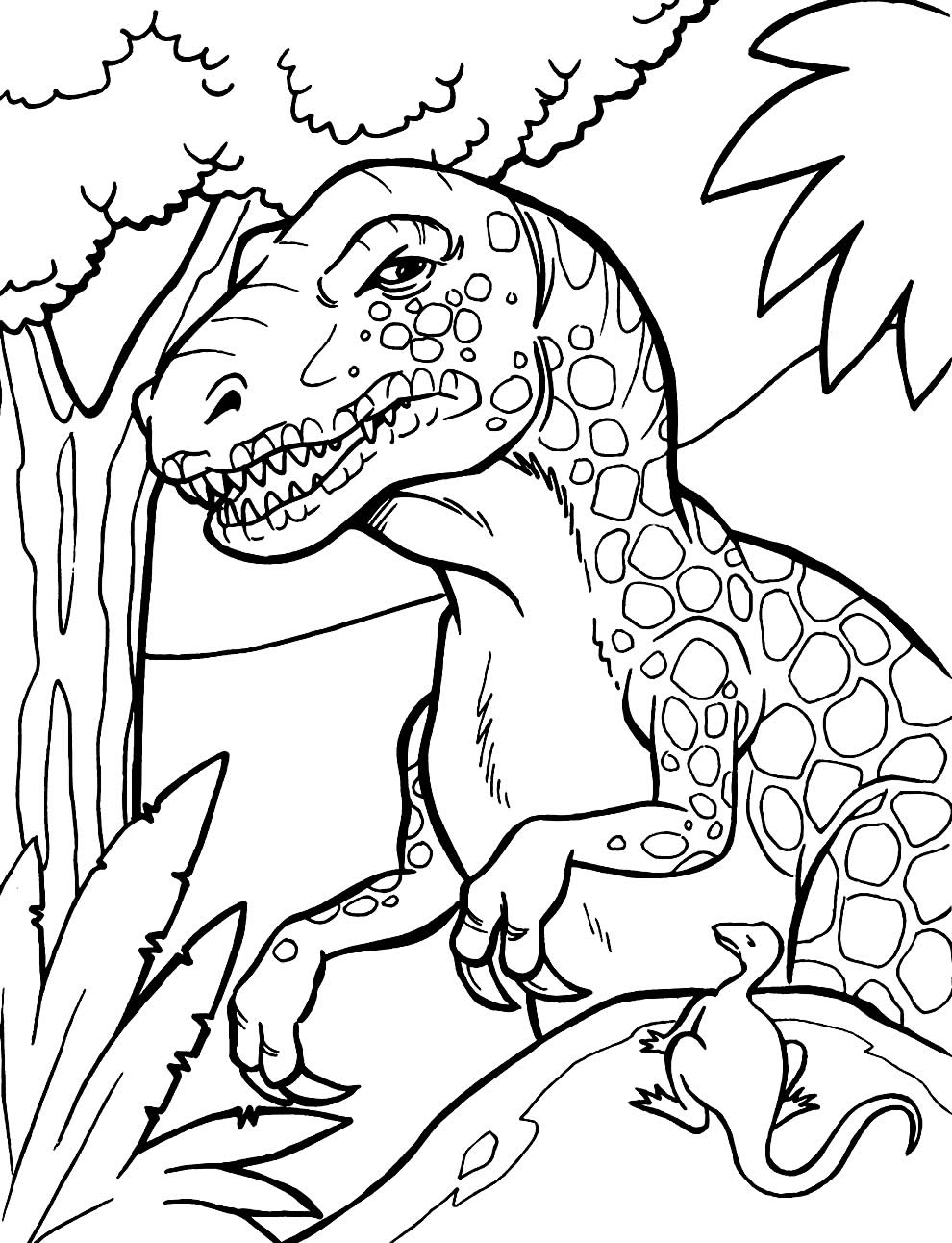 Moule de dinosaure à colorier