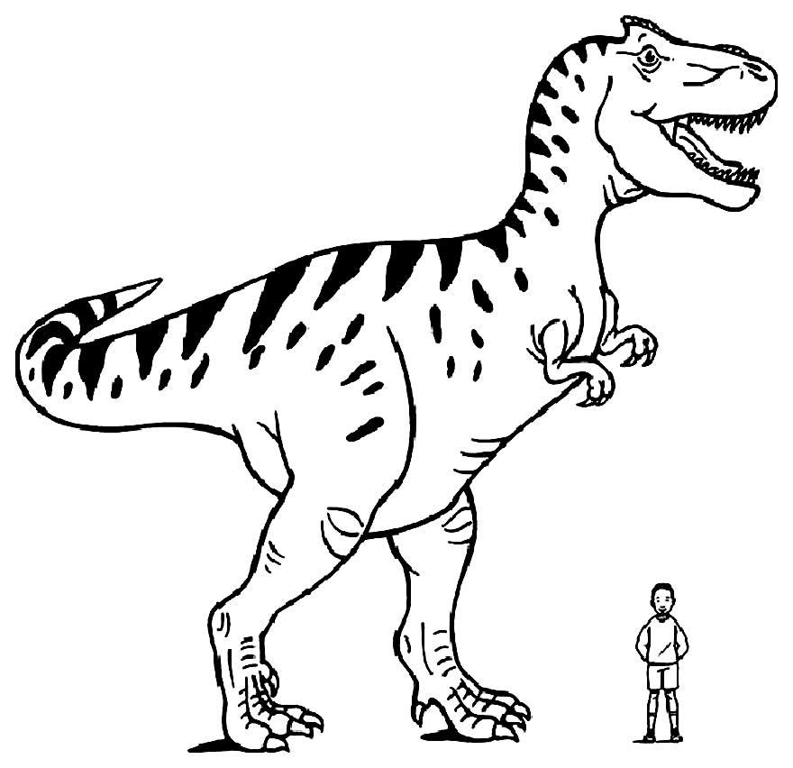 Modèle imprimable de dinosaure