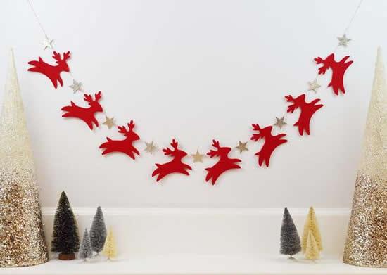 Guirlande de Noël avec feutre