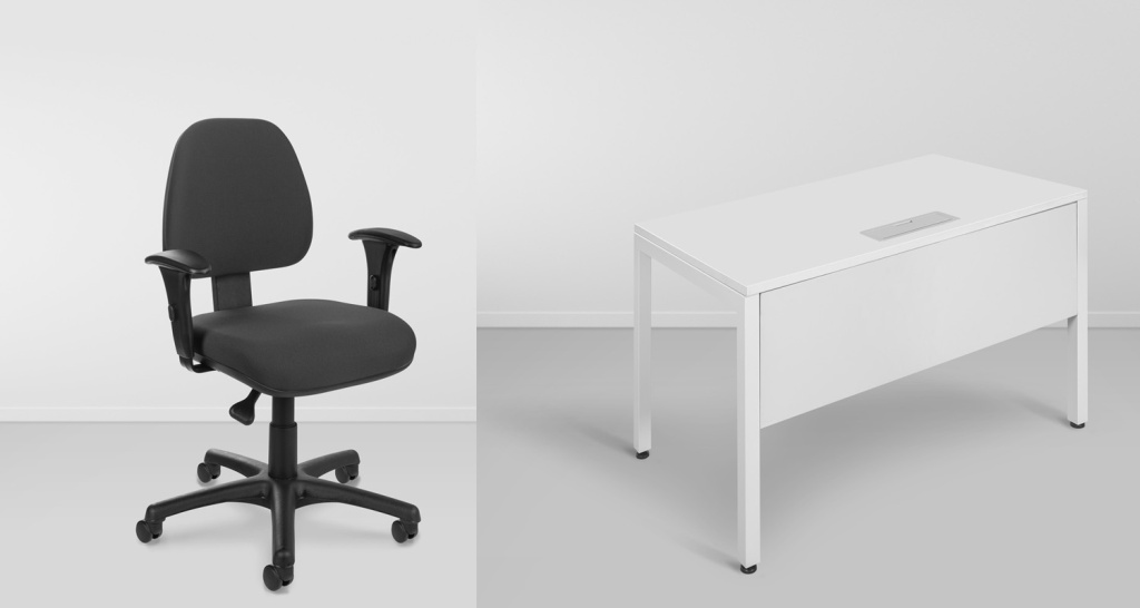 Bureau et chaise de bureau