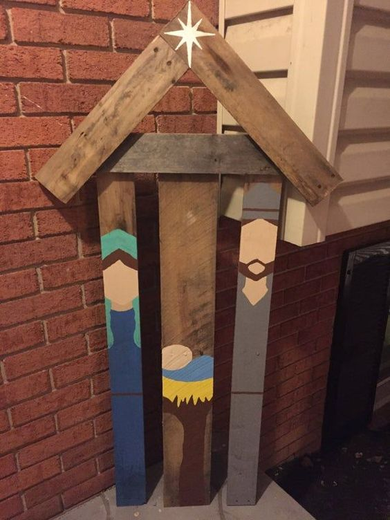 Crèches de Noël recyclées