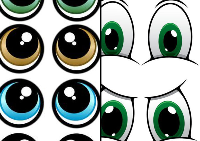Modèle d'oeil imprimable