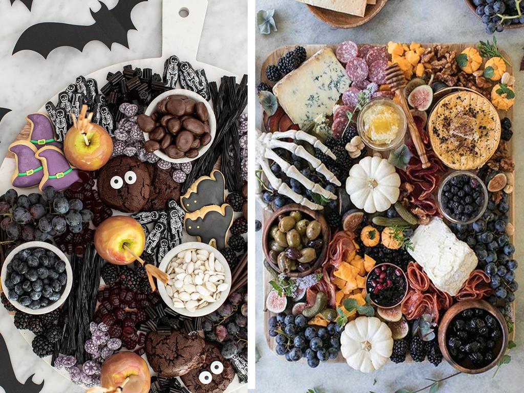 Bonbons sur le thème d'Halloween et planche froide