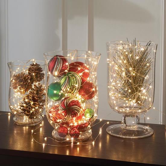 Décoration avec flasher et pots pour Noël
