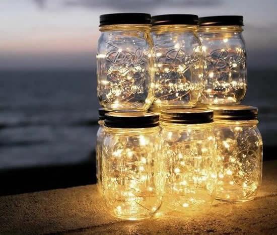 Idées avec des pots et des oeillères pour la décoration