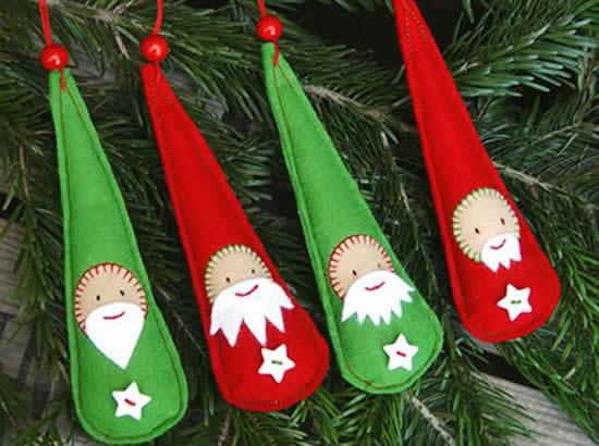 Ornements d'arbre de Noël en feutre