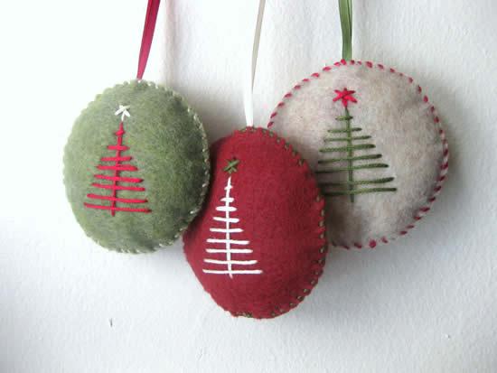 Décoration d'arbre de Noël en feutre