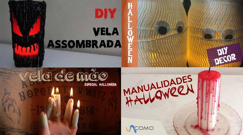 bougies pour halloween