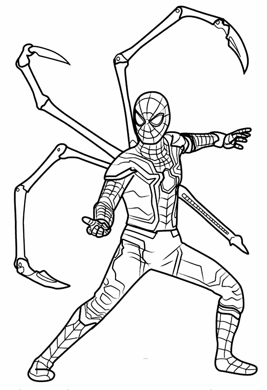 Coloriage de Spiderman
