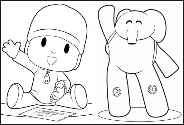 Coloriages Pocoyo