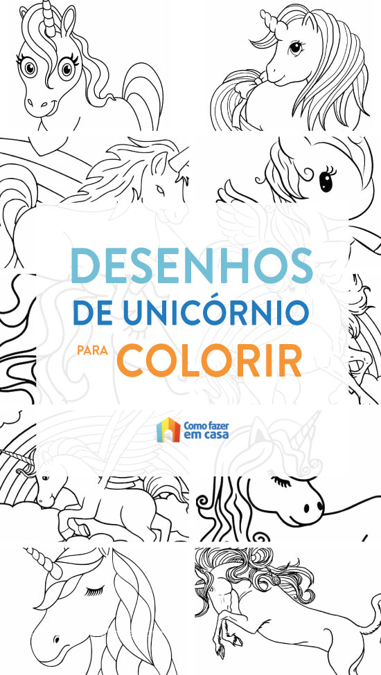 Coloriages de licorne à peindre et colorier