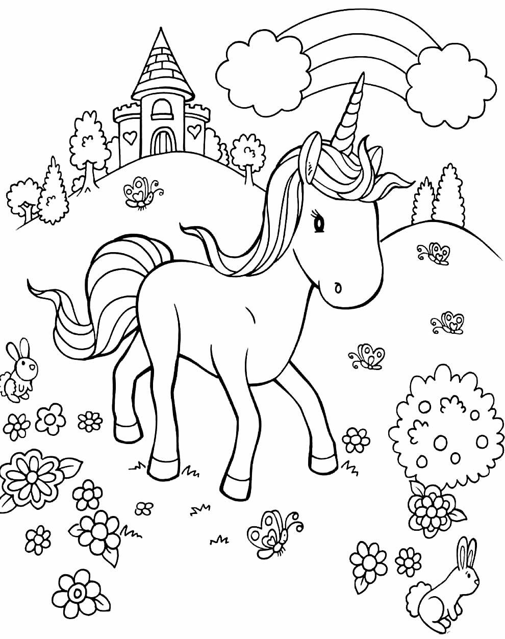 Coloriages de licorne à peindre et colorier - Maison Bonte ...