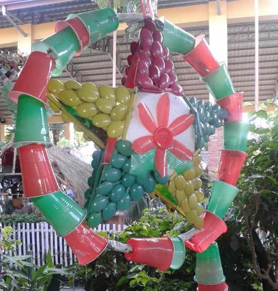 Guirlande de Noël avec recyclage