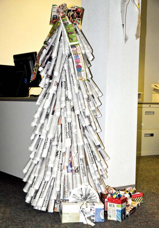Sapin de Noël avec recyclage