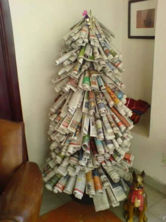 Décoration de Noël avec recyclage