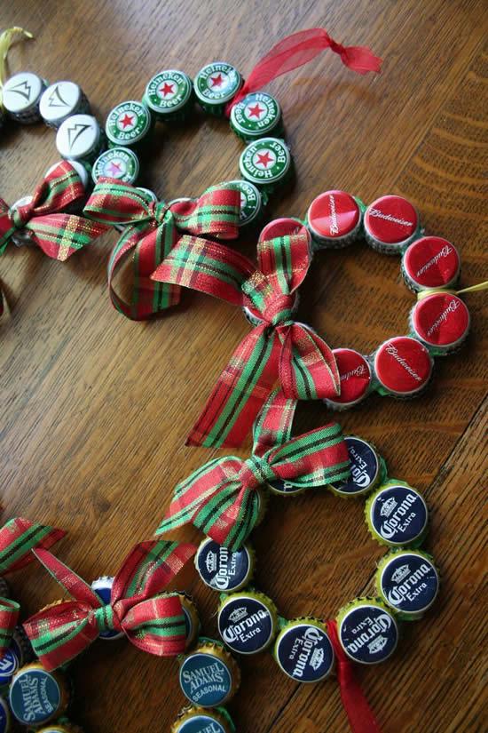 Ornement de Noël avec recyclage