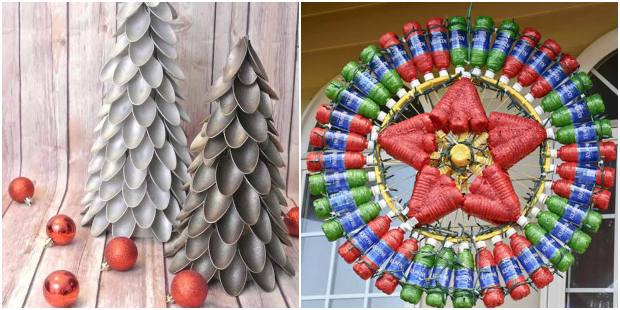 Décoration de Noël avec ferraille