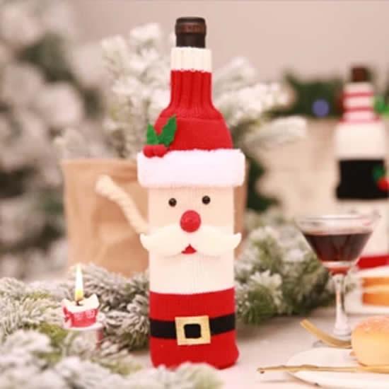 Vêtements du Père Noël pour bouteilles