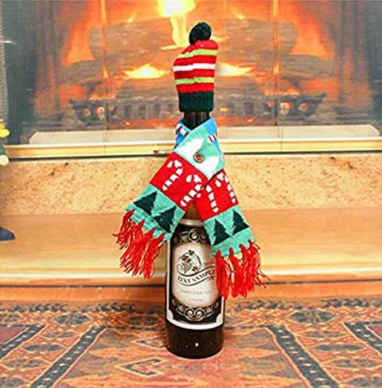 Vêtements de Noël pour bouteille en verre