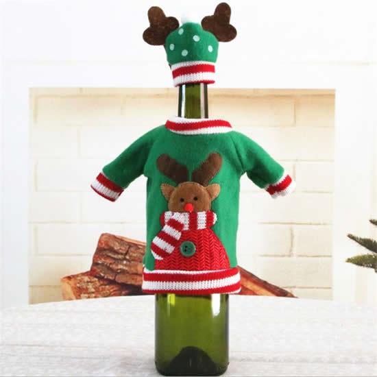 Beaux vêtements de Noël pour bouteilles
