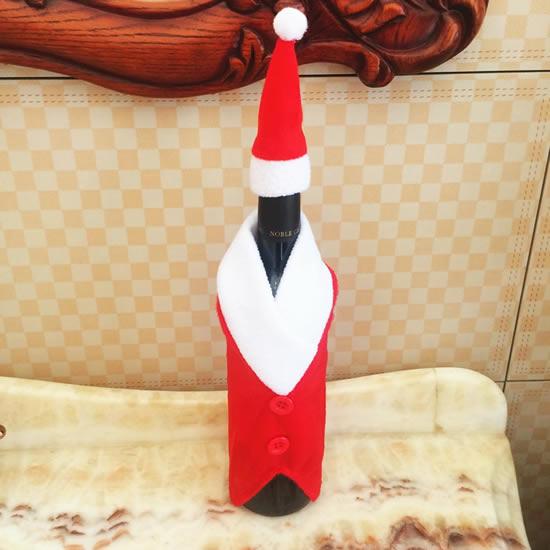 Vêtements en tissu pour bouteilles à Noël