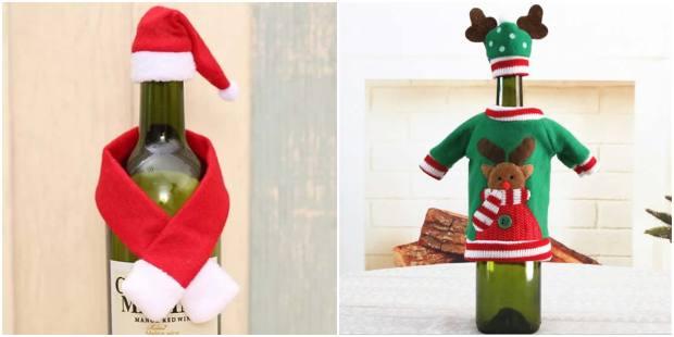 Vêtements de Noël pour bouteilles