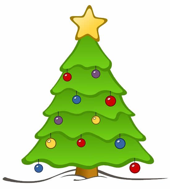 Modèle d'arbre de Noël coloré