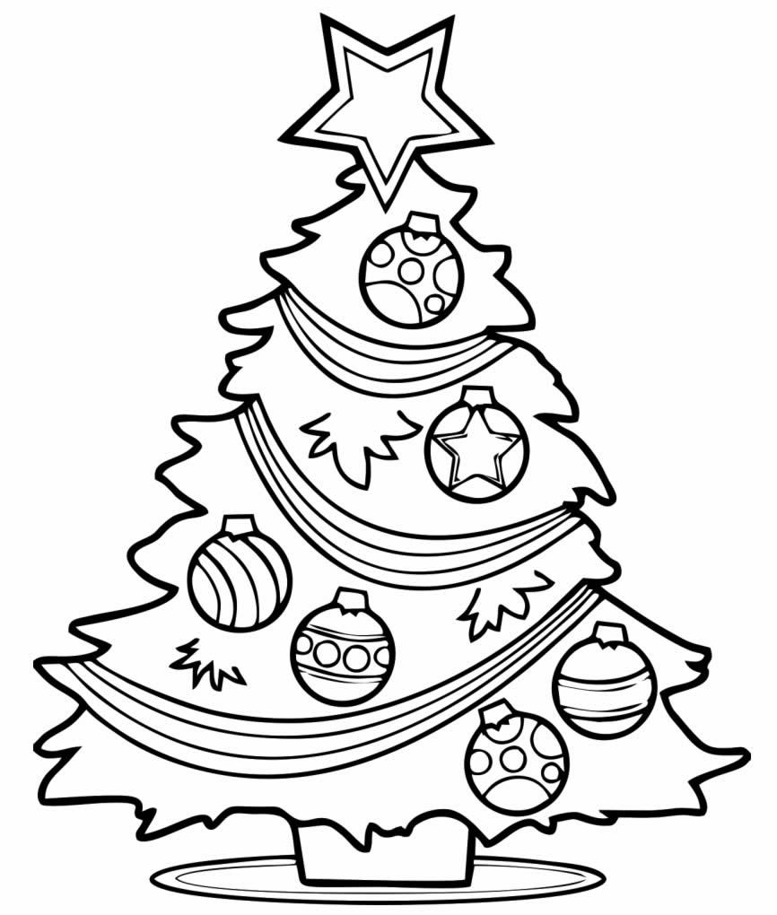 Coloriage de sapin de Noël