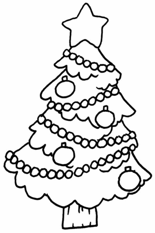 Coloriage de Sapin de Noël à imprimer et colorier