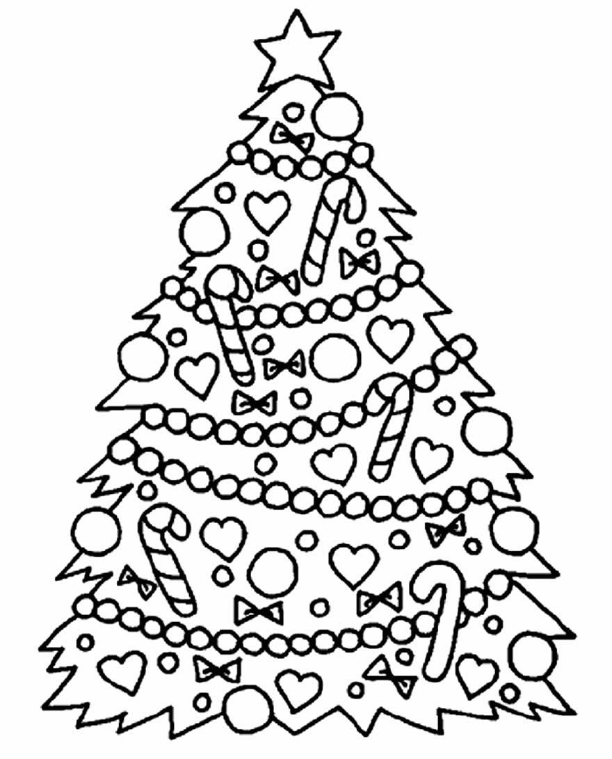 Modèle d'arbre de Noël imprimable