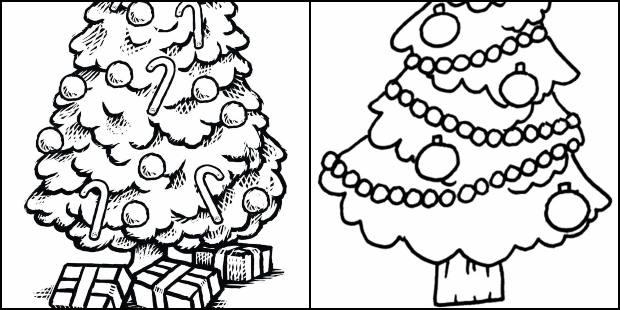 Moules de sapin de Noël à peindre